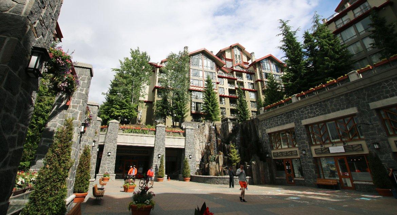 Courtyard at Whistler Westin Hotel