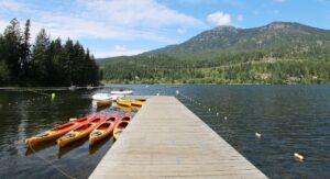 Dock and Boats at Alta Lake