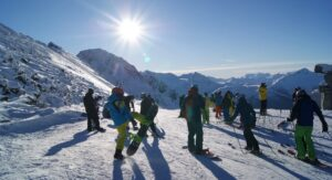 Skiers at Whistler-Blackcomb