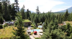 View of Scandinave Spa