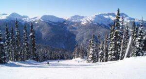 Whistler Ski Hill in Winter