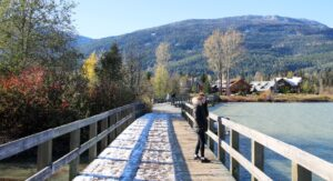 Whistler's Valley Trail at Green Lake in Fall