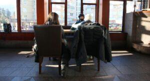 Family Eating at a Whistler Restaurant