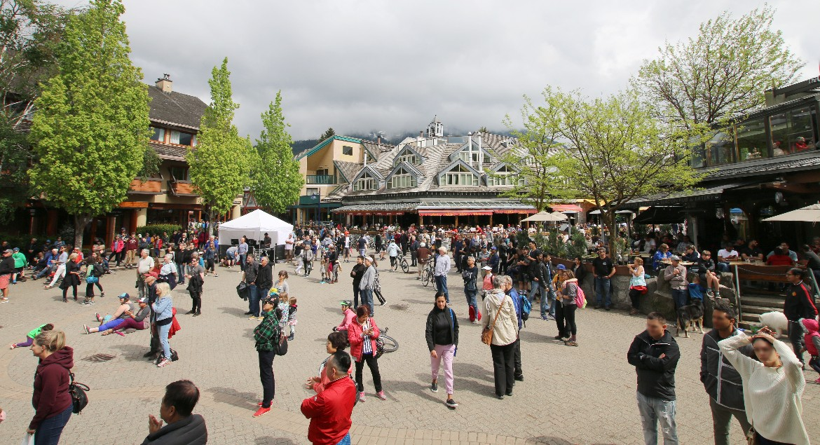 Whistler Village on the May Long Weekend